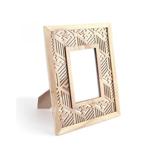 Cadre-photo ajouré Ethnique en bois - 24 x 19 cm