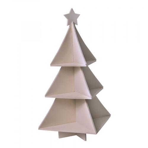 Etagère Sapin en bois - 25 x 25 x 40 cm