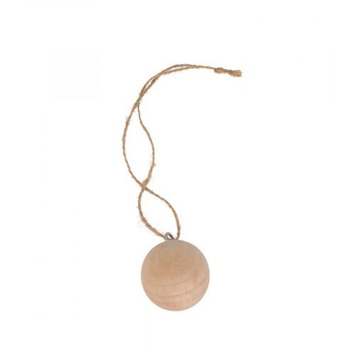 Boules en bois à suspendre - 4 cm - 3 pcs