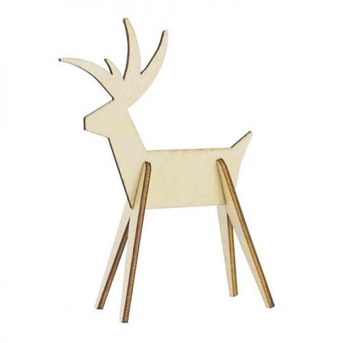Cerf en bois à monter - 12 x 10 cm