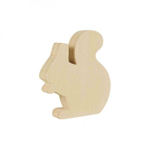 Ecureuil en bois à poser - 8 x 7 x 1,5 cm