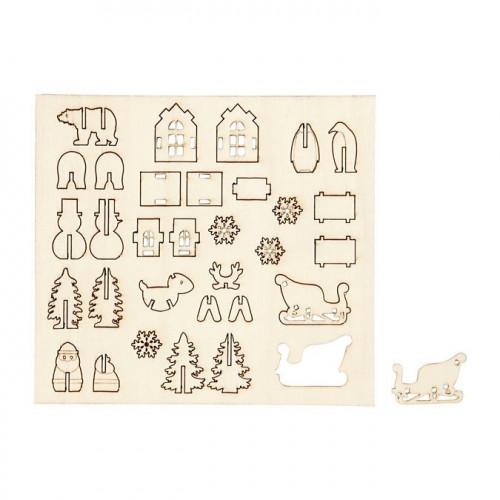 Figurines de Noël en bois - à assembler