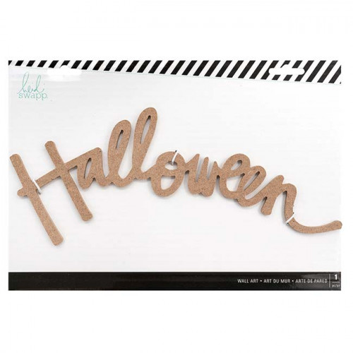 Mot mural en bois Halloween - 35 x 24 x 1 cm