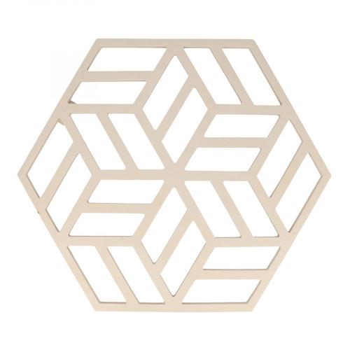Panneau en bois ajouré Hexagone - 28,5 x 33 cm
