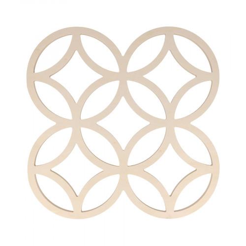 Panneau en bois ajouré Cercles - 30 x 30 cm