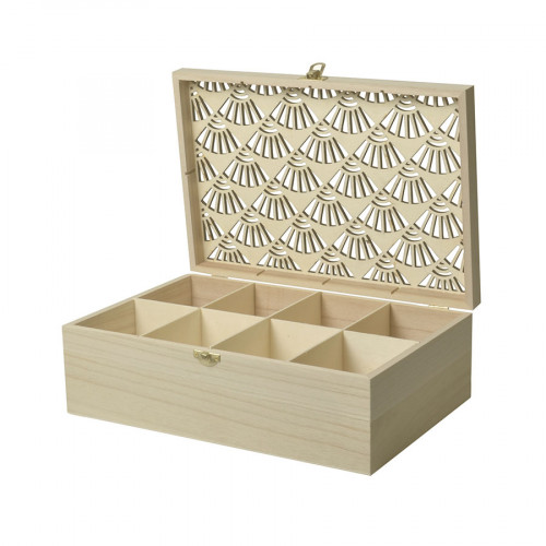 Boîte compartimentée en bois Japan - 25 x 20 x 6,5 cm