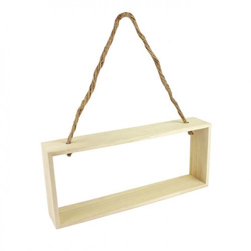 Étagère en bois à suspendre - 28 x 12 x 5 cm