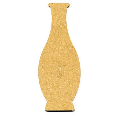 Support à décorer en bois medium - Bouteille arrondie - 16 x 6.5 cm