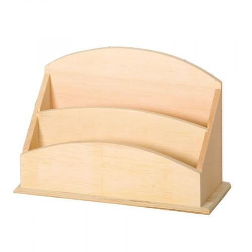 Support à décorer en bois - Porte courrier bois - 25 x 10 x 17 cm