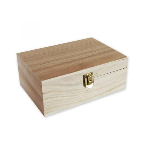 Boite en bois 4 compartiments - 20 x 14 x 8 cm