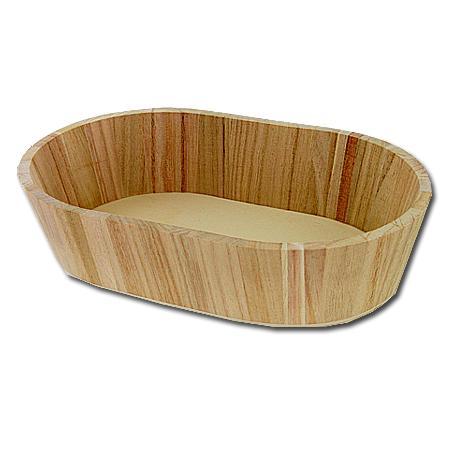 Support à décorer en bois - Bac ovale - 30 x 19 x 7 cm