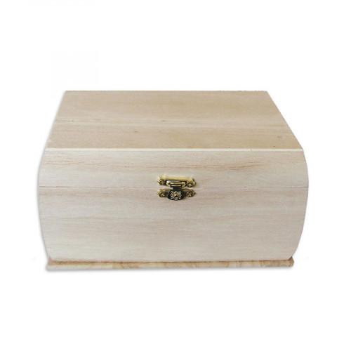 Support à décorer en bois - Coffre aux trésors - 19 x 13 x 11 cm