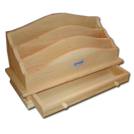 Support à décorer en bois - Accessoires de bureau - 33 x 17 x 14 cm