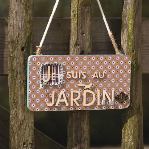 Support à décorer en bois - Plaque à suspendre - 21 x 10.5 cm