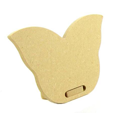 Support à décorer en bois medium - Porte noms avec chevalet - Forme papillon - 10 x 6.5 cm