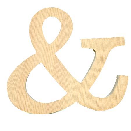 Support à décorer en bois - Lettre en bois - & - 11.5 x 13 cm