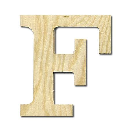 Support à décorer en bois - Lettre petit modèle - F - 9,7 x 11,3 cm
