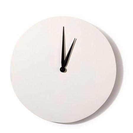 Horloge ronde en bois à décorer - blanc - 30 x 30 cm