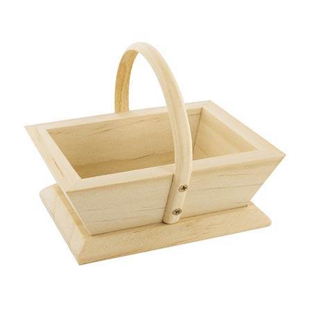 Support à décorer en bois - Mini panier jardinier - 7,5 x 9,5 cm