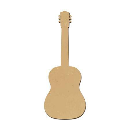 Support à décorer en bois médium - Guitare sèche GM - 15 x 5,7 cm