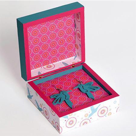Support à décorer en bois - Boîte carrée - 10 x 10 x 5 cm