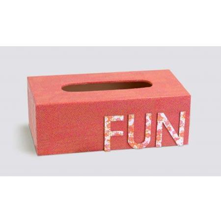 Support à décorer en bois - Boîte à mouchoirs - 25 x 13 x 9 cm