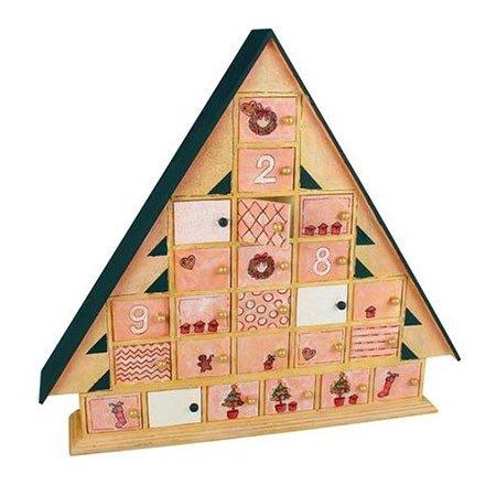 Calendrier de l'Avent - Maison en bois - 42,5 x 48 x 8 cm