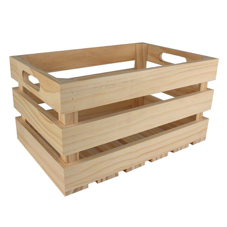 Caisse En Bois Pour Livre caisse de rangement vintage en bois - 35 x 25 x 19,5 cm