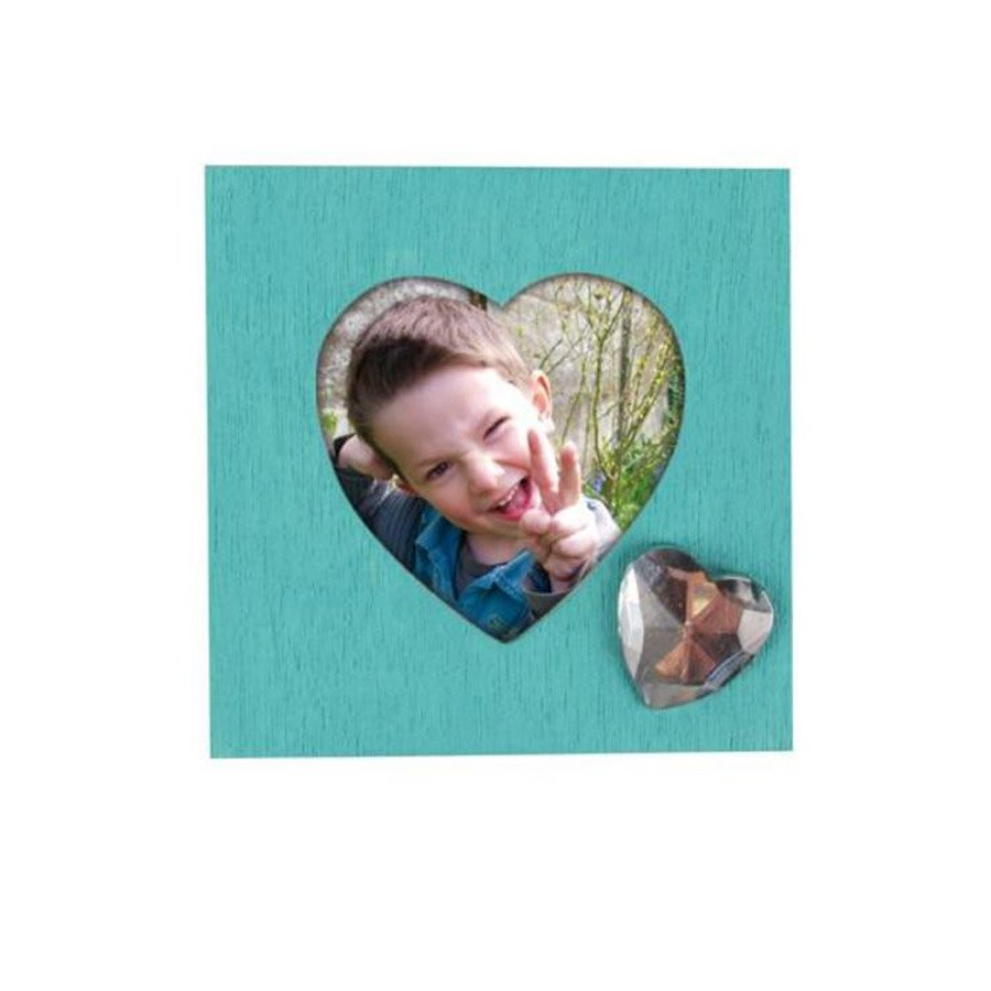 Pince Cadre Photo en bois - Cœur - 4,3 x 4,3 cm - 4 pcs