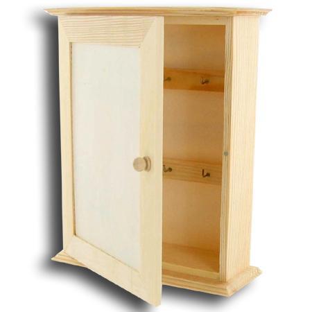 Support à décorer en bois - Armoire pour clés - 25 cm