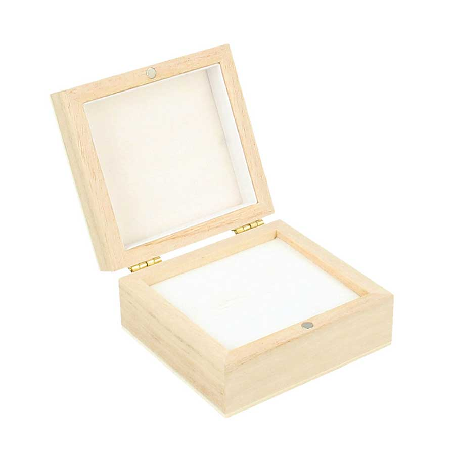Boîte pour boucles d'oreille - 7 x 6,5 x 3,3 cm
