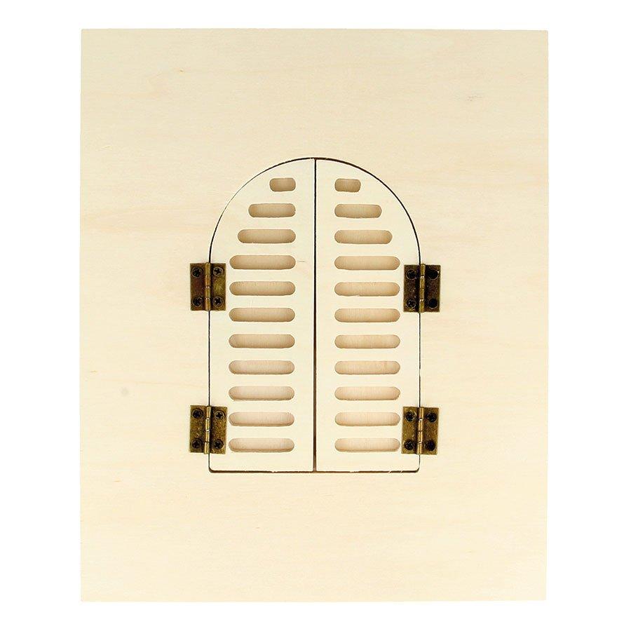 Cadre en bois Fenêtre arrondie - 18 x 22 cm