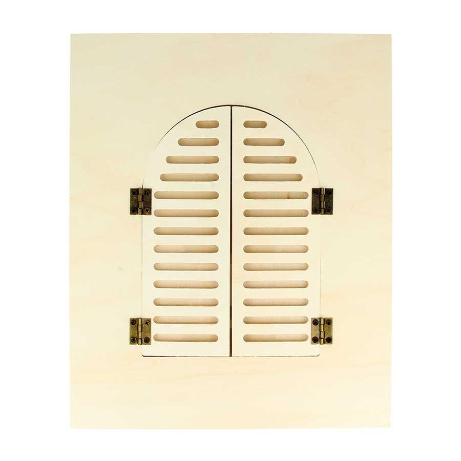 Cadre en bois Fenêtre arrondie - 22 x 27 cm