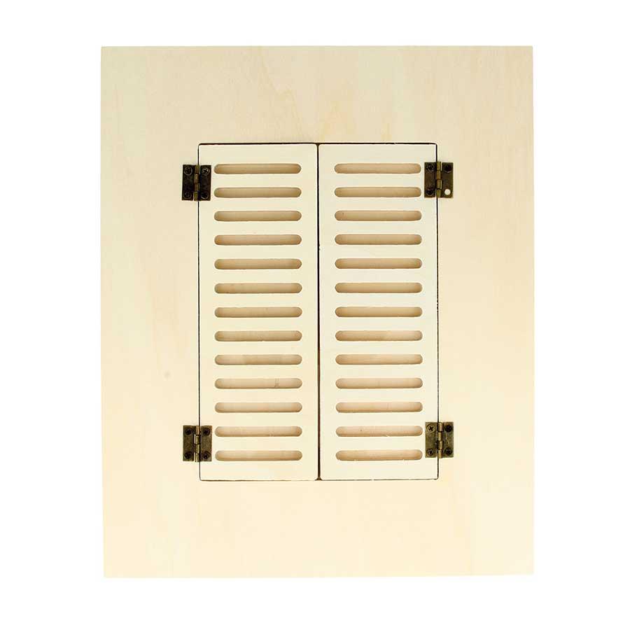 Cadre en bois Fenêtre rectangulaire - 22 x 27 cm