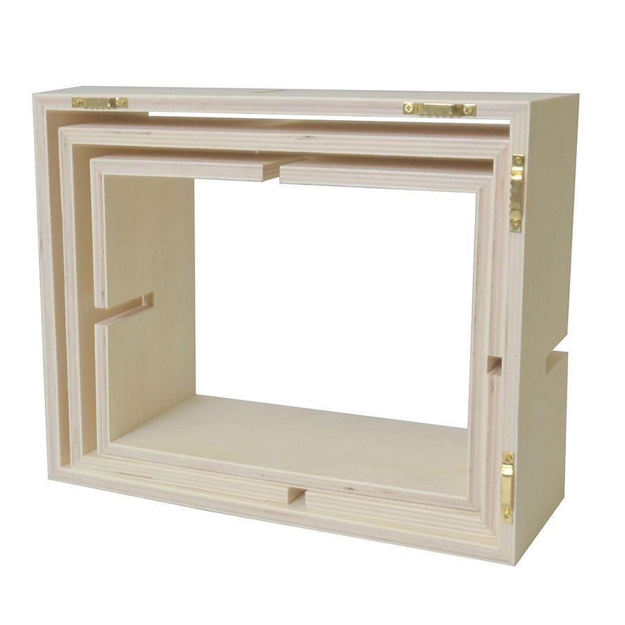 Etagères en bois à imbriquée - 60 x 40 cm