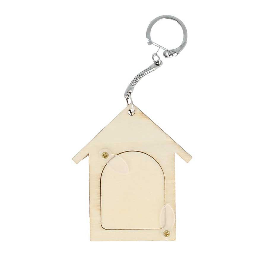 Porte-clés Niche en bois - 6,3 x 7 cm