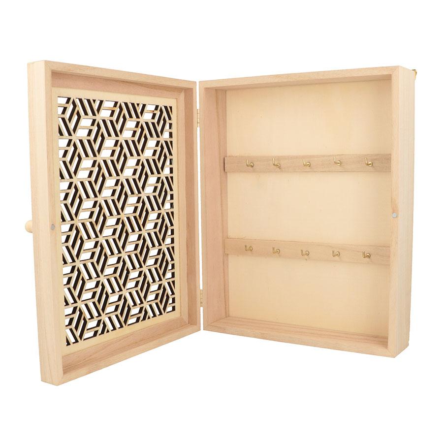 Boite à clés en bois Japan - 20 x 25 x 6,5 cm