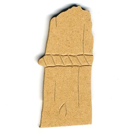 Support à décorer en bois medium - Bord de mer - Poteau fin - 8.5 x 3.5 cm