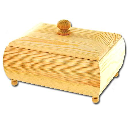 Support à décorer en bois - Coffret rectangulaire - couvercle - 18 x 13 x 6 cm