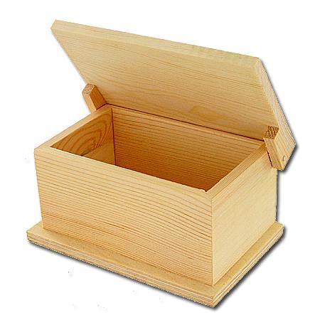 Support à décorer en bois - Petit coffre - 15 x 9 x 7,5 cm