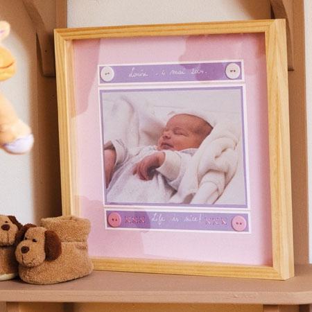 Support à décorer en bois - Cadre plat - 32,5 x 32,5 cm
