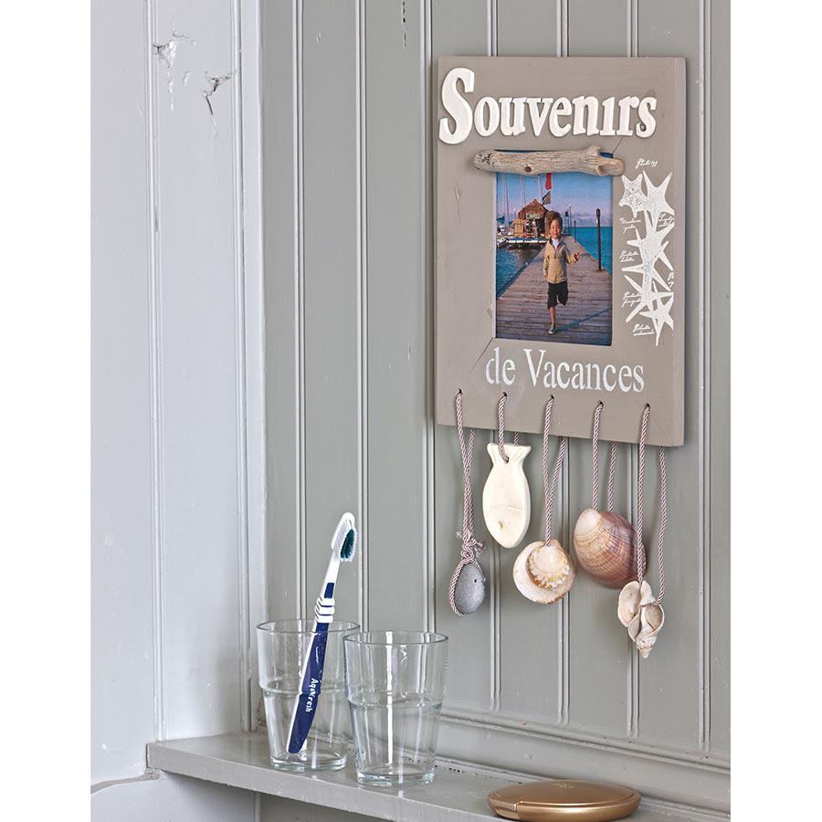 Support à décorer en bois - Cadre bois plat & plexi - 38 x 38 cm