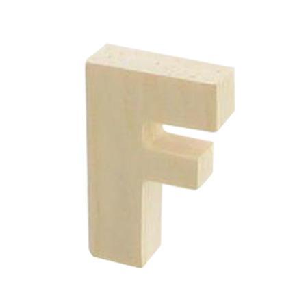 Support à décorer en bois - Lettre F - 5.1 x 3.3 cm