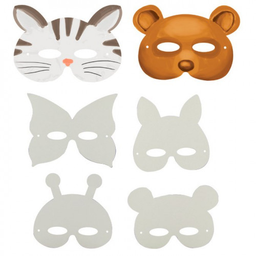 Masques animaux - 12 pcs