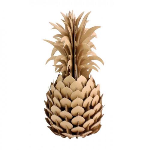 Ananas en carton à assembler - 14 x 28 cm