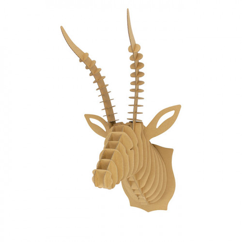 Trophée Antilope en carton à assembler - 27 x 52 x 30 cm