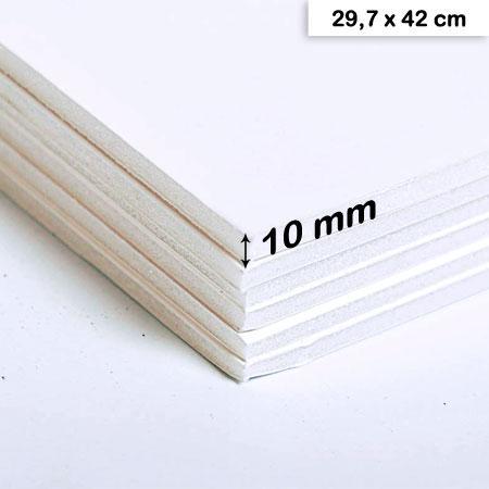 Carton mousse blanc - 10 mm - 29,7 x 42 cm