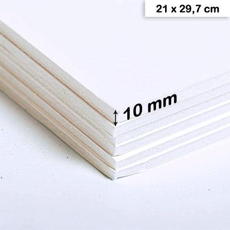 Carton mousse blanc - 10 mm - 21 x 29,7 cm - 1 pce