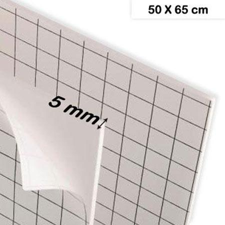 Carton mousse adhésif - 5 mm - 50 x 65 cm