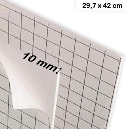 Carton mousse adhésif - 10 mm - A3